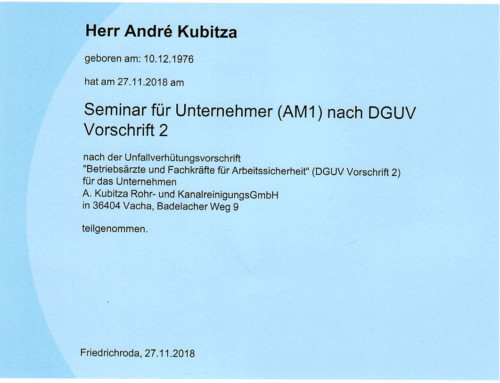 BG Bau: Kubitza