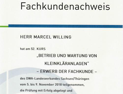 DWA Klärwärter Fachkunde: Marcel Willing