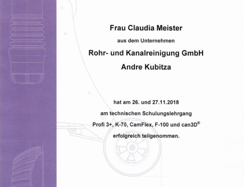 Kamerainspektion 2018: Meister