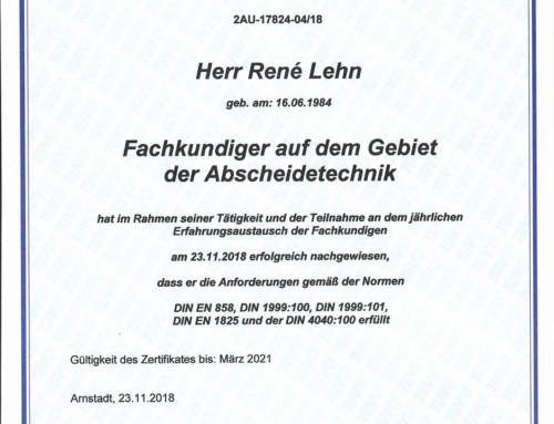 TÜV Abscheidetechnik: Lehn