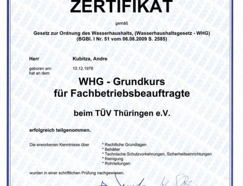 TÜV Fachbetriebsbeauftragter: Kubitza