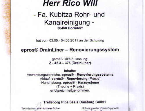 Sanierung: Rico Will